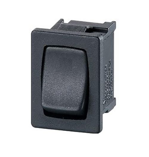 Black Slim Rocker Switch DPST 13mm x 19mm (RD19) A81231100000